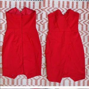 Red Hot Strapless ASOS Dress 🔥